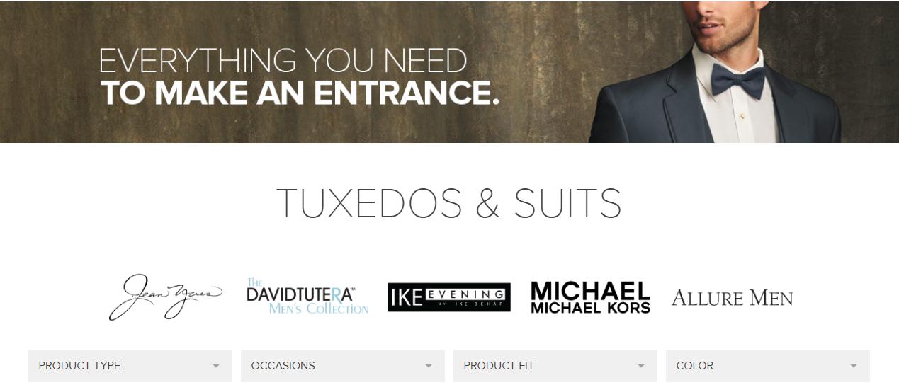 Tux Rentals Online, Suit Rentals Virginia